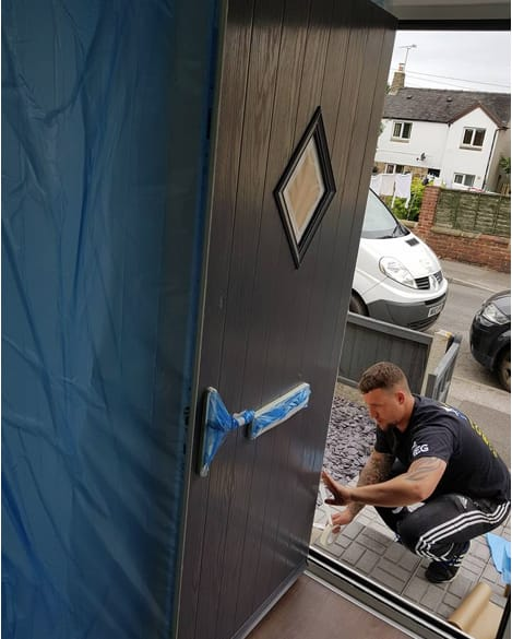 Composite Door Respray in Ravenshead, Nottinghamshire. Spraymasters UK